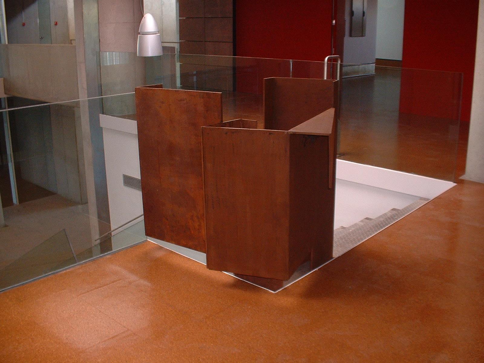 Esculturas construcciones met licas caravaca for Acero corten perforado oxidado