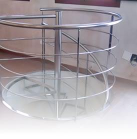 barandilla escalera de caracol acero inoxidable