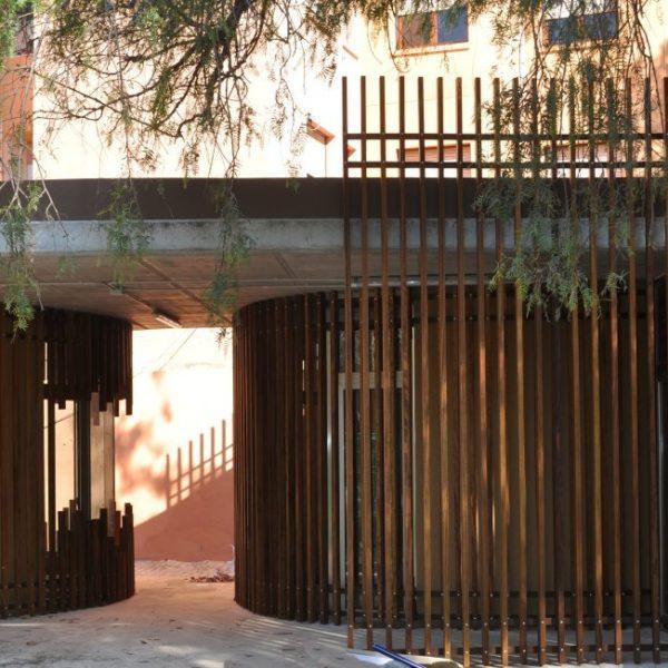 Barrio la Viña. Lorca. fachada en madera